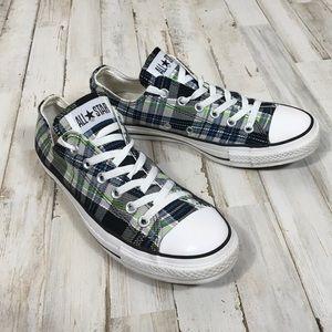 Converse All Stars Plaid Striped Tennis Shoes